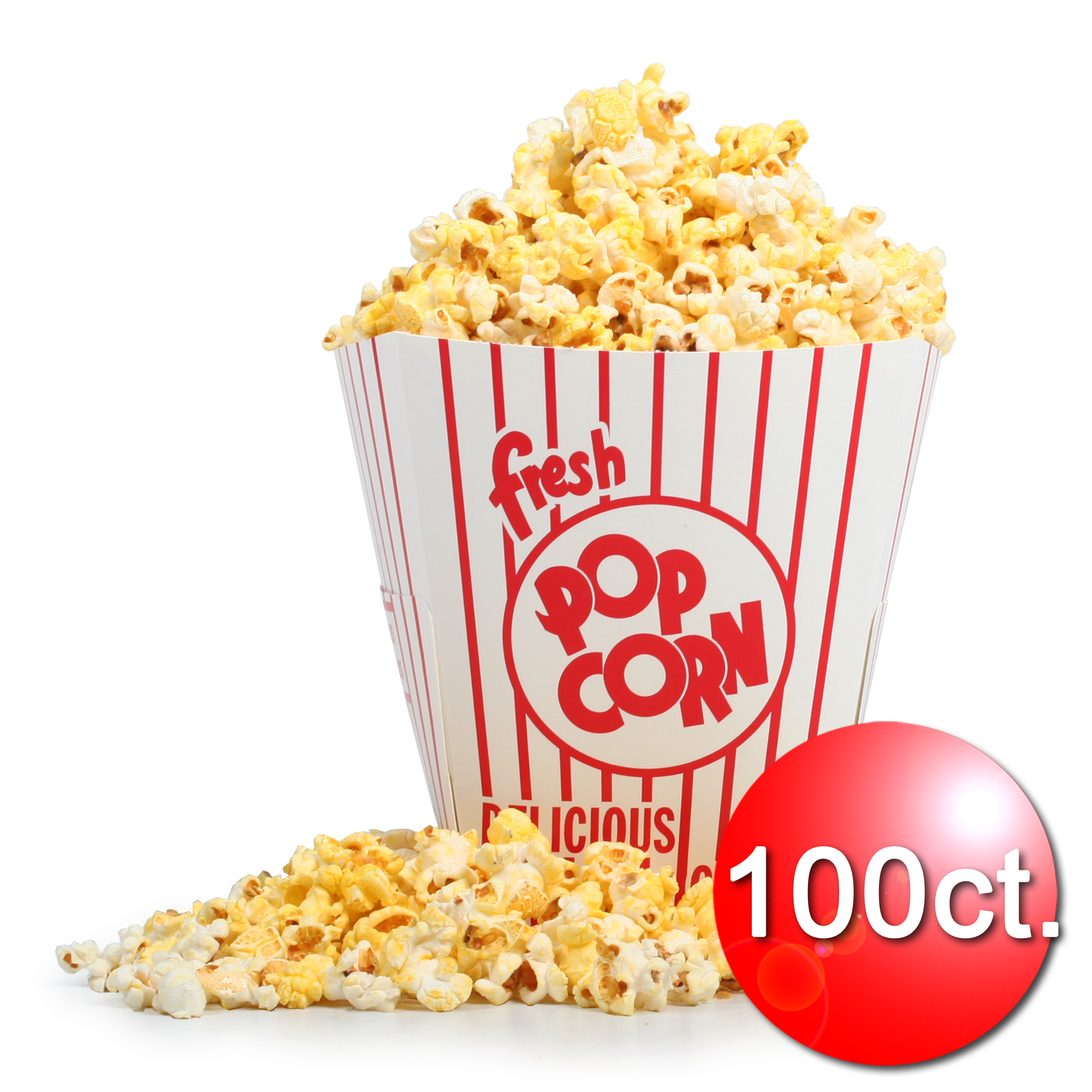 Great Northern Popcorn 85 Ounce Movie Theater Popcorn Buckets Open Top 100 Count