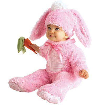 Toddler Bunny Rabbit Halloween Costume (Rubies Halloween Costumes Baby Girls Bunny Rabbit Costume - Pink -baby Halloween Costumes / Easter 6-12)