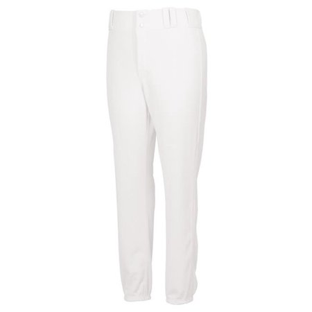 Intensity N4500YX100LRG Youth Double Knit Base Ball Pant Pink Tint, White - Large