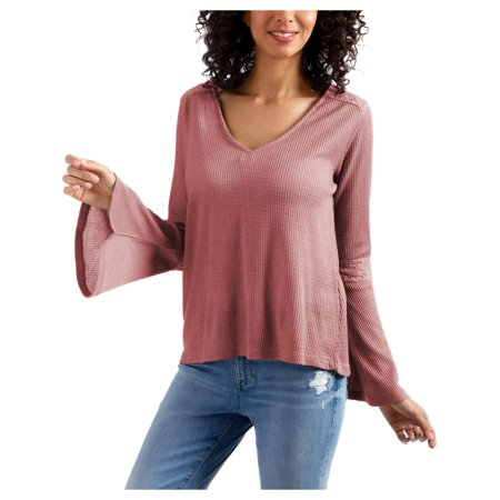 Lucky Brand Womens Flare Sleeve Casual Thermal Top