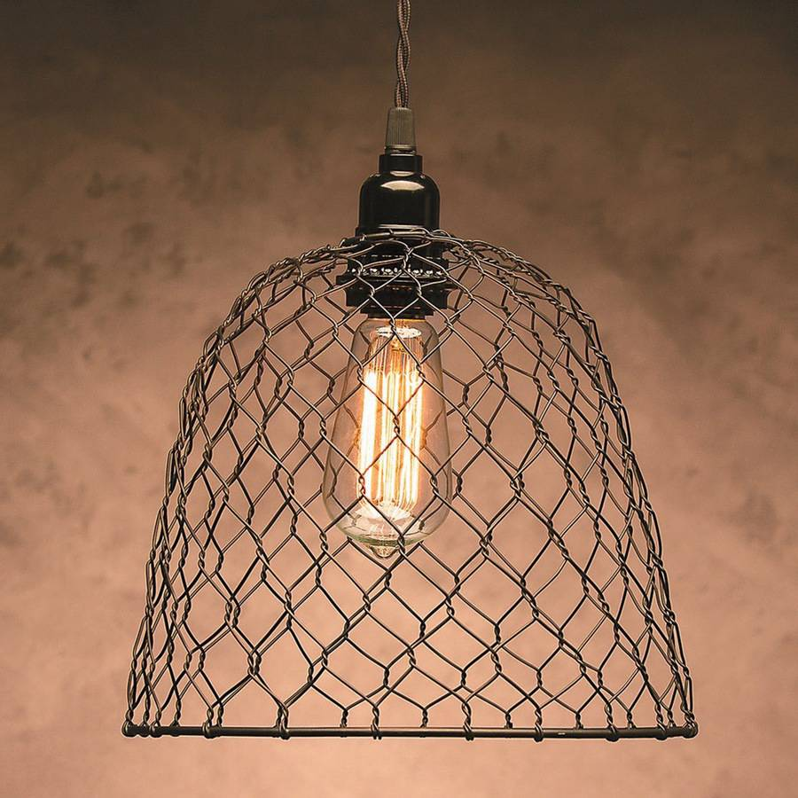"Metal Chickenwire Dome Lampshade 10"" x 8.25"""