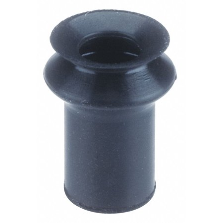 8mm Fluoro Rubber Bellows Vacuum Pad, Black With (Fluro Rubber)