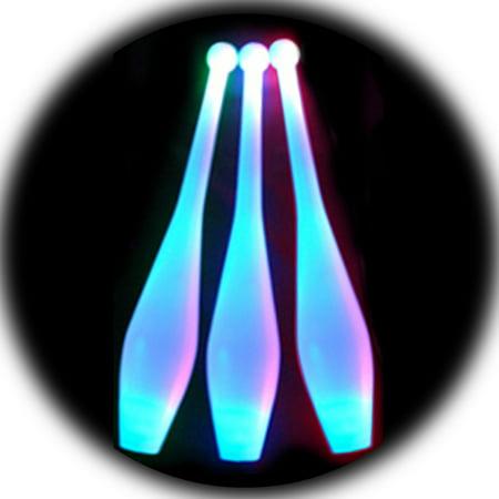 Blue LED Juggling Clubs (Set of 3)](Juggling Sets)
