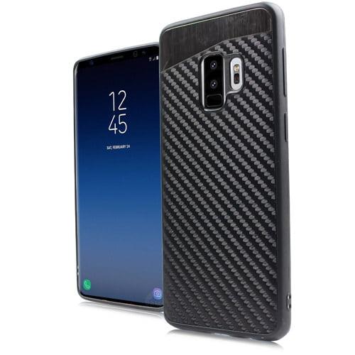 MUNDAZE Carbon Fiber Design Magnetic Ready Case For Samsung Galaxy S9 Phone