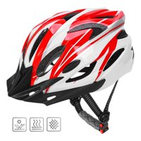 QF Adult Cycling Bike Helmet Specialized for Men Women Safety Protection CPSC Certified (18 Colors) Black/Red/Silver Adjustable Lightweight Helmet with Reflective Stripe and Removal (Blue&Orange)