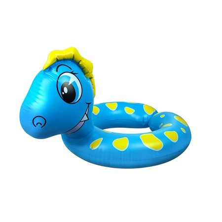 Inflatable Blue and Yellow Dragon Children's Swimming Pool Split Ring Inner Tube, 24-Inch (Floating Dragon)
