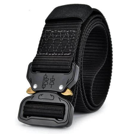 Men's Tactical Military Heavy Duty Nylon Metal Buckle Quick Release Outdoor Rigger's Webbed Belt (Style 6b001) ()
