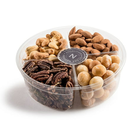 The Nuttery Deluxe 4 Section -Roasted Nuts Gift Tray (Nut Gift Baskets For Men)