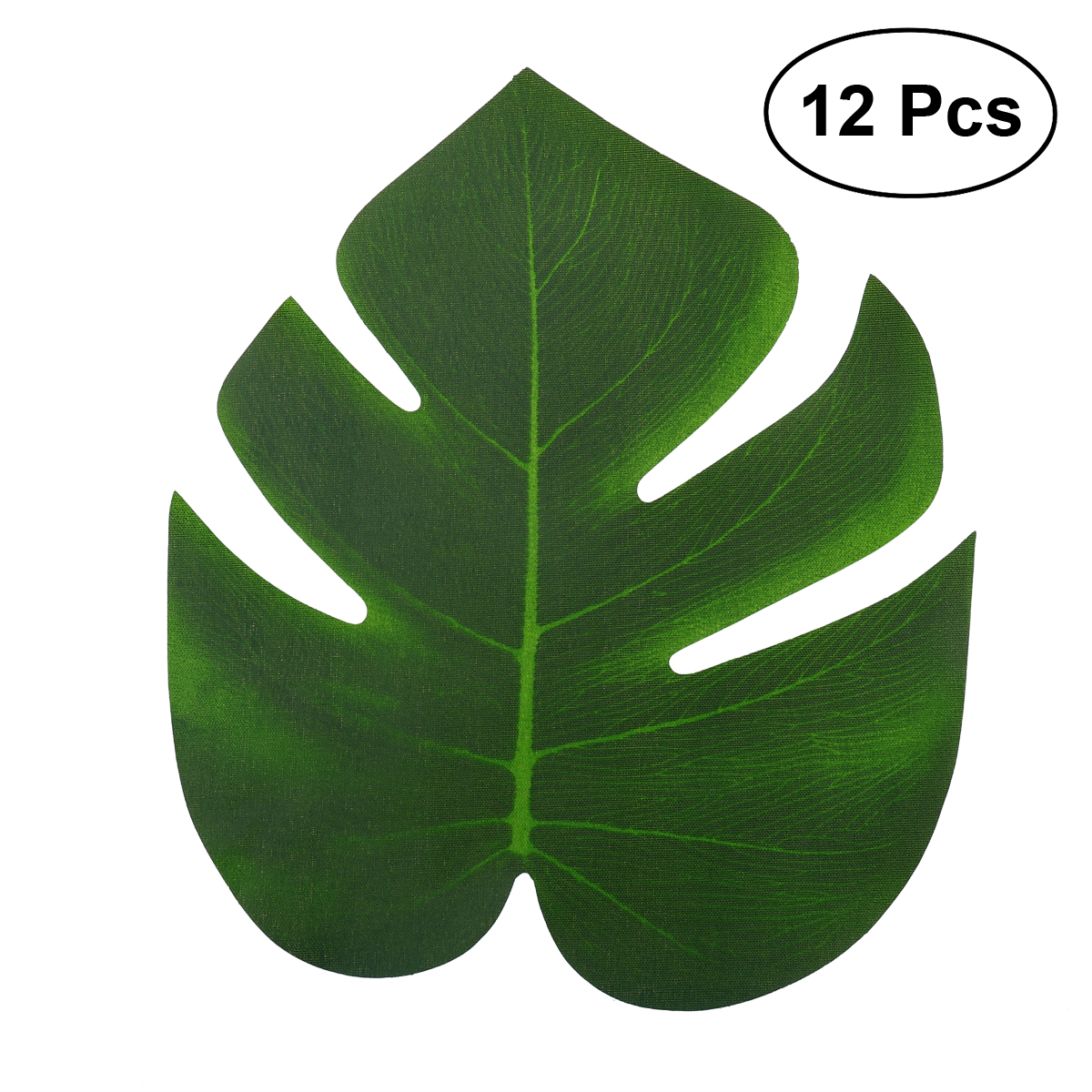 12pcs 20x18cm Artificial Tropical Palm Leaves Simulation Leaf for Hawaiian Luau Party Jungle Beach Theme Party Decorations