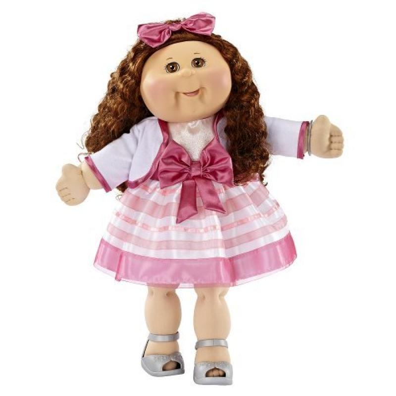 FAO Exclusive Cabbage Patch Doll 30th Anniversray 20 inch Collector Kid Girl, Brunette, Brown Eyes by