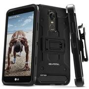 LG G Stylo 3 Case, Evocel [Belt Clip Holster] [Kickstand] [Tri Layer] Phone Case for LG G Stylo 3 (2017 Release), Black