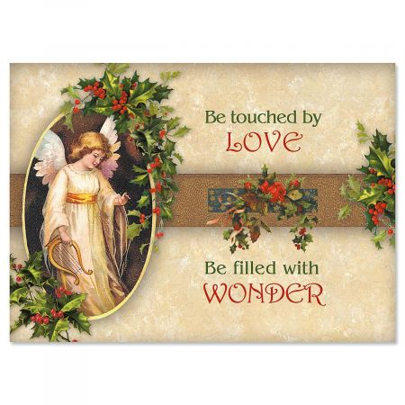 Victorian Angel Christmas Cards - Set of 18