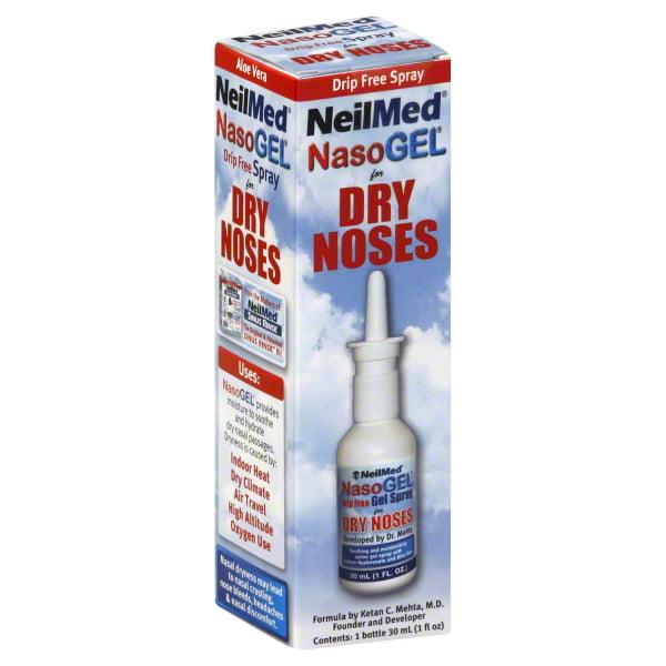 NeilMed Nasogel Drip Free Gel Spray, 1 Fluid Ounce (Pack of 2)