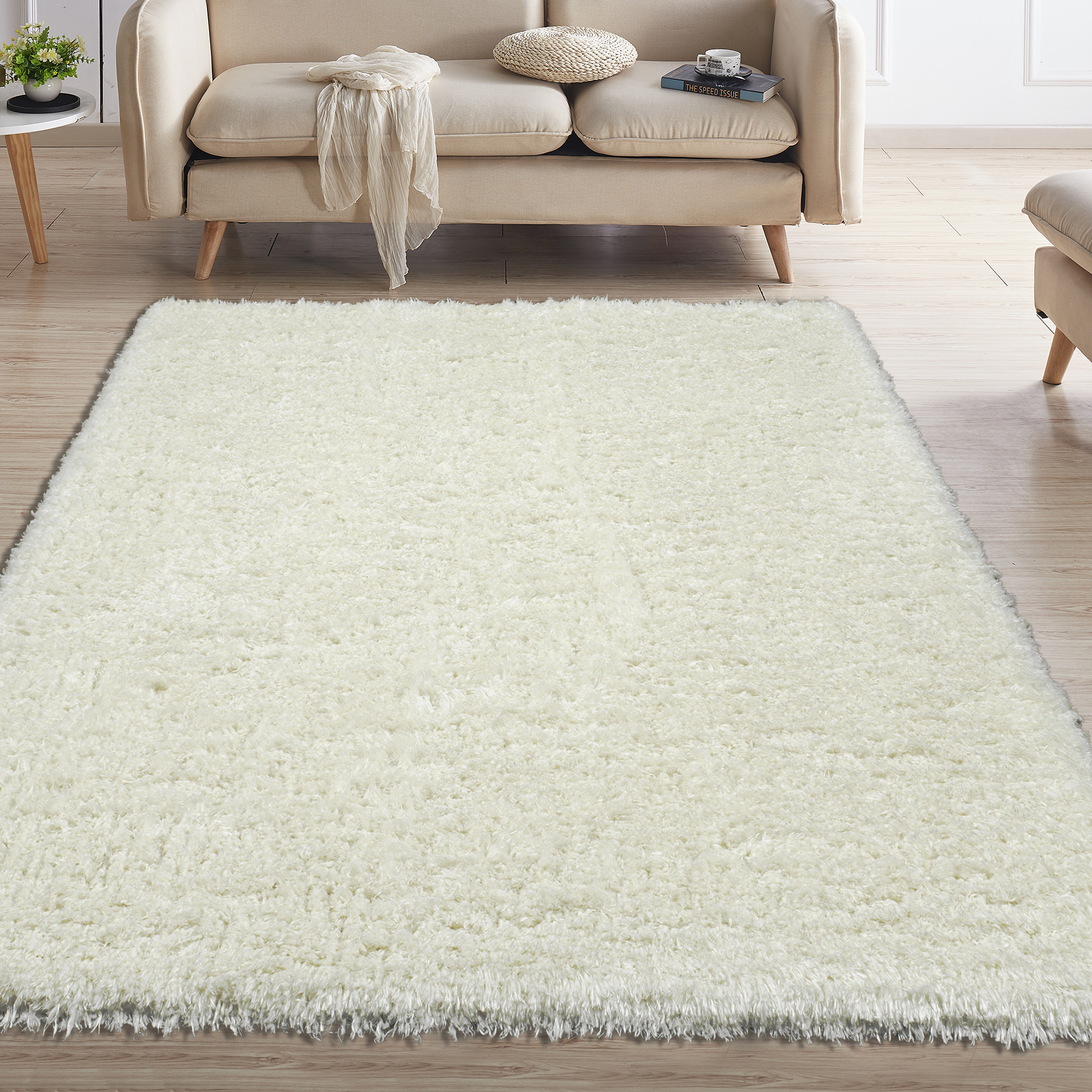 Ottomanson Flokati Collection Faux Sheepskin Shag Area Rug or Runner