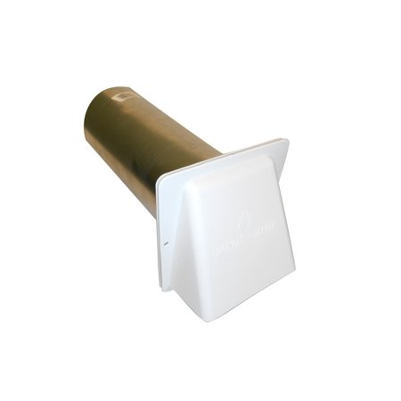 Dundas Jafine - PVB4Z - Dryer Vent Hood 4 Inch White ()
