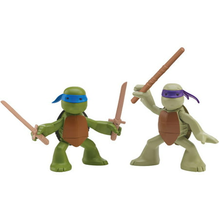 Teenage Mutant Ninja Turtles Ninjas in Training Don & Leo Action Figures