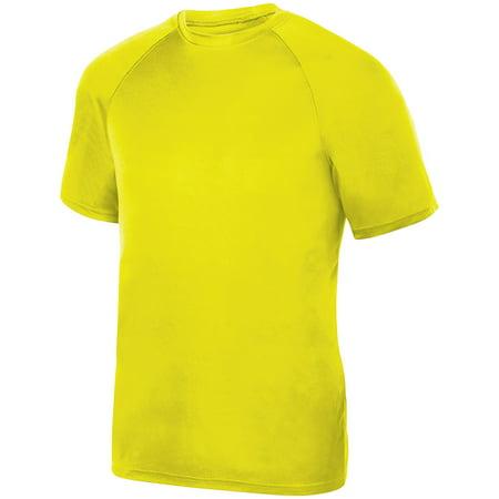Safety Tip - Augusta Sportswear M Boys Attain Raglan Sleeve Wicking Tee Safety Yellow 2791