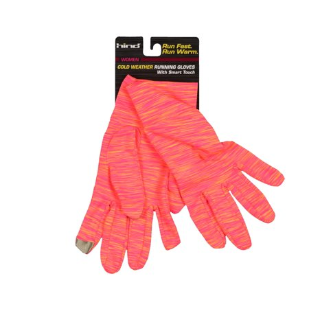Hind Women's Cold Weather Running Gloves Large / X-Large Coral Bright