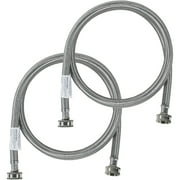 Certified Appliance Accessories 77503 2 Pk Braided Stainless Steel Washing Machine Hoses, 4ft