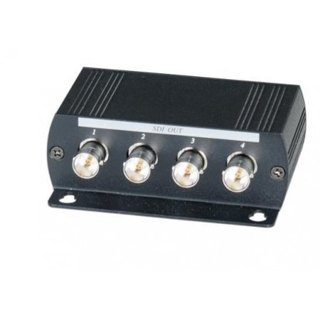 Sd Sdi Distribution Amplifier - 1 Input 4 Output HD-SDI Distribution Video Amplifier HD signal distance total up to 1300Feet