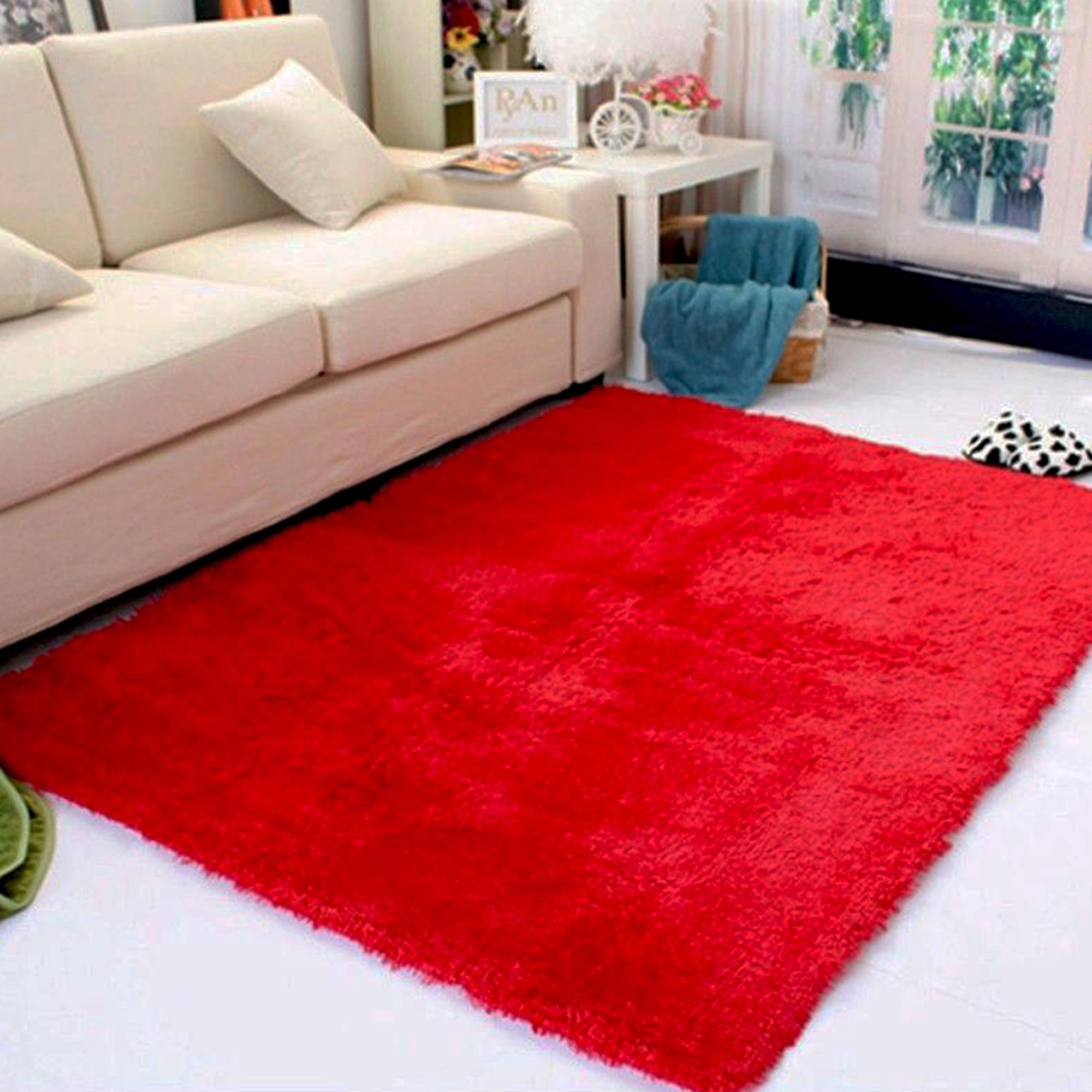 Home Floor Fluffy Rugs Anti-Slip Shaggy Fashion Super Soft Carpet Mat Decoration