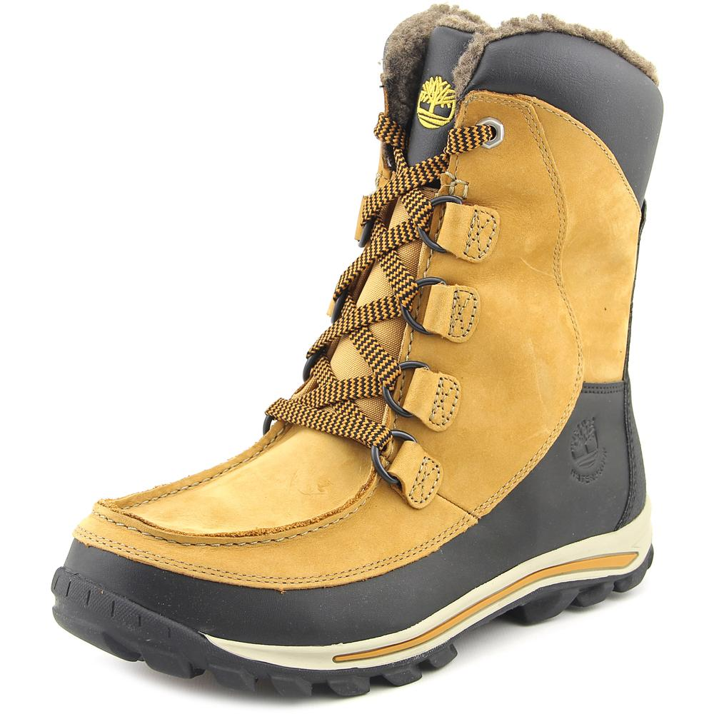 Timberland Chillberg HP Youth  Round Toe Leather Tan Snow...