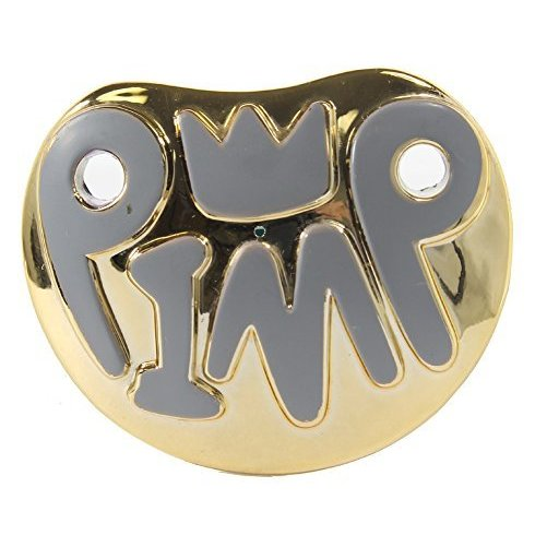 Billy Bob Teeth, Inc. Mens Baby Pimp Pacifier One Size Fits Most Gold