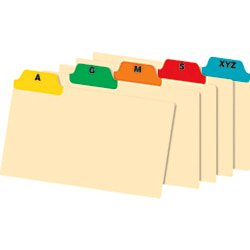 Az Poly Card Guides - Office Depot® Brand A-Z Poly Index Card Guide Set, 3