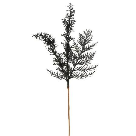 Black Cedar Pine Glitter Spray, 18 in. (Glittered Pine Spray)