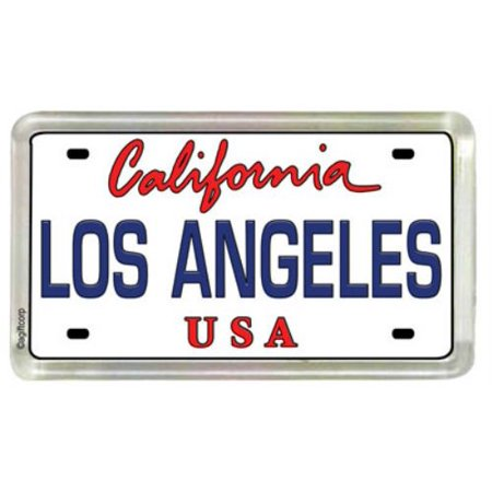 Small Acrylic Magnet - Los Angeles California License Plate Acrylic Small Fridge Collector's Souvenir Magnet 2 inches X 1.25 inches