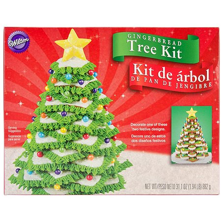 Wilton Gingerbread Cookie Decorating Kit Christmas Tree 2104 1916