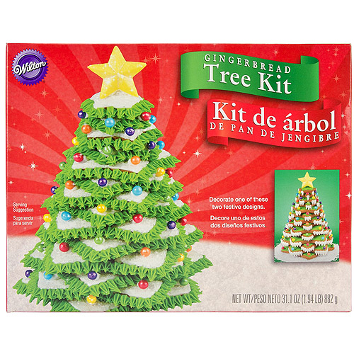 Wilton Gingerbread Cookie Decorating Kit, Christmas Tree 2104-1916
