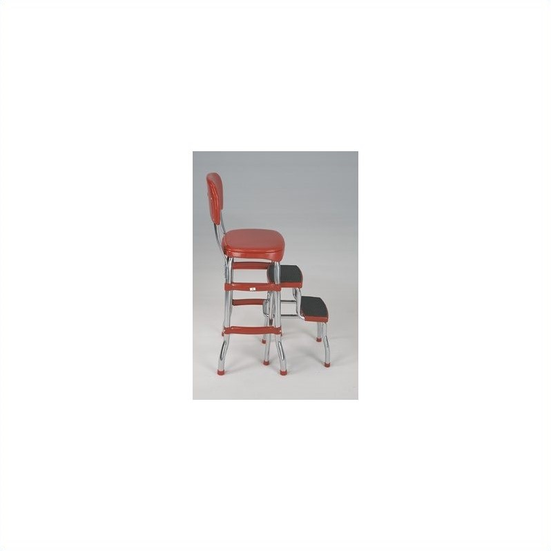 Cosco Red Retro Counter Chair / Step Stool Image 2 of 3  sc 1 st  Walmart & Cosco Red Retro Counter Chair / Step Stool - Walmart.com islam-shia.org