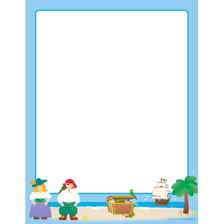 Designer Paper - Pirates (50 Sheet Package) (Pirate Paper)