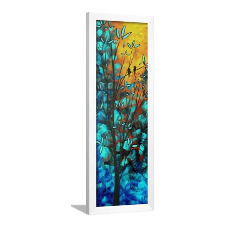 Love Is In The Air Colorful Bird Painting Framed Print Wall Art By Megan Aroon