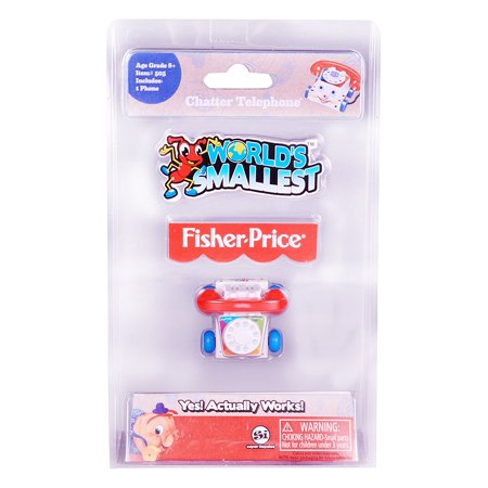 Classic Chatter Telephone - World's Smallest Fisher Price Classic Chatter Phone Collectable By Worlds Smallest