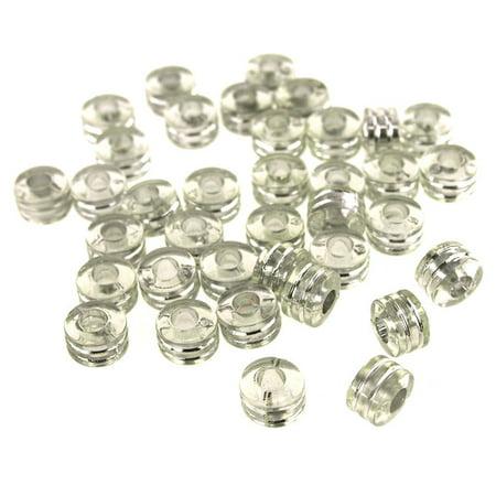Acrylic Barrel Pony Beads, 9mm, 80-Piece (0.625 16 Mm Acrylic)