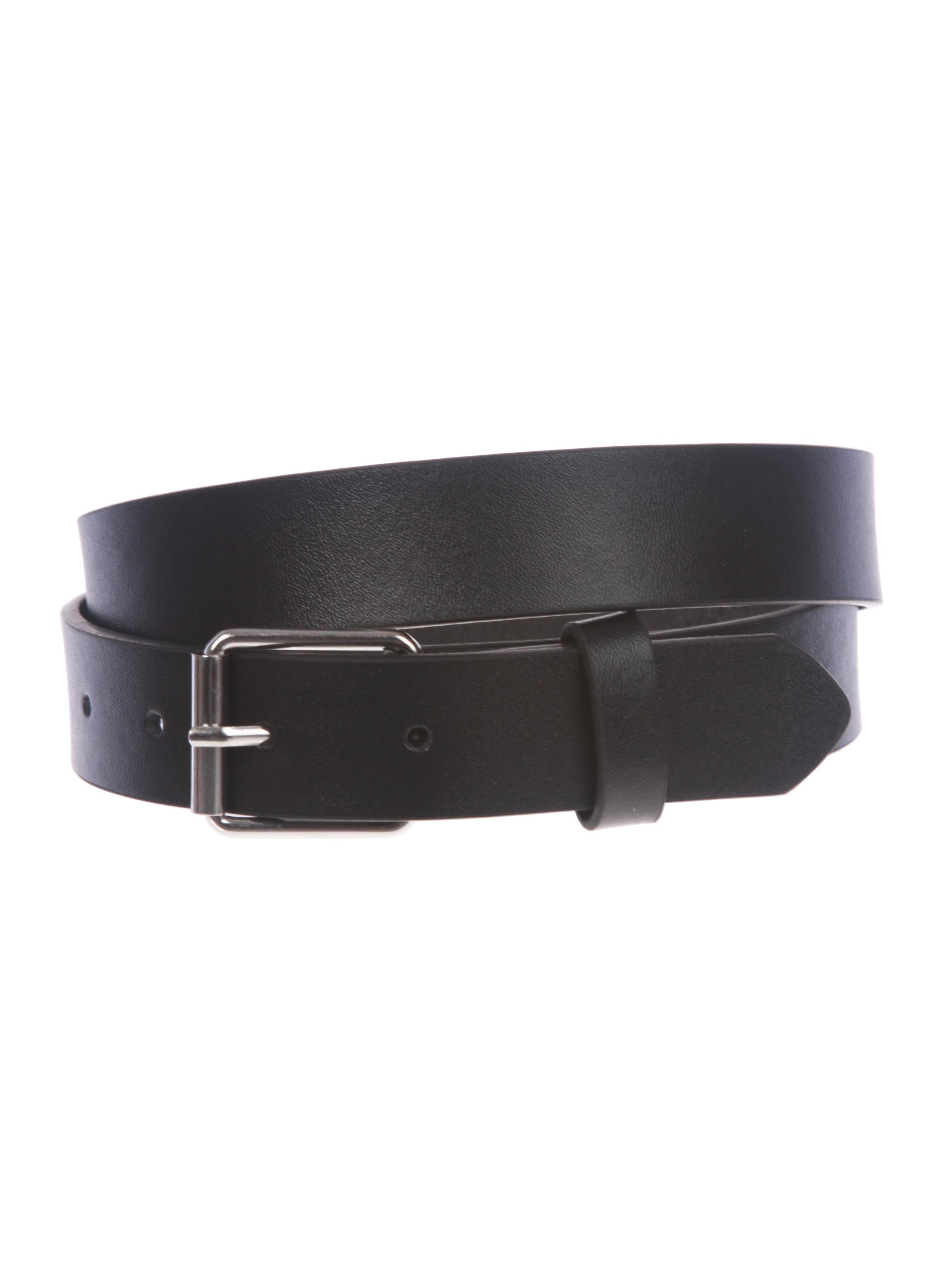 Kids or Extra Small Size Snap On Plain Leather Belt Black 23 Inch