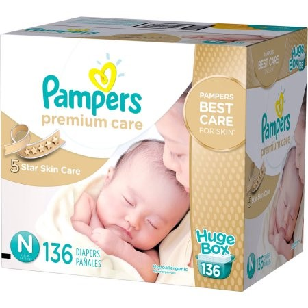 Pampers Premium Care Disposable Diapers (Choose Diaper Size and Count)
