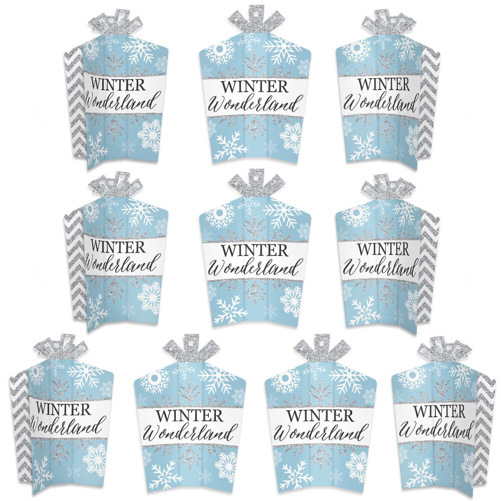Winter Wonderland Table Decorations Snowflake Holiday Party And Wedding Fold Flare Centerpieces 10 Count Walmart Com
