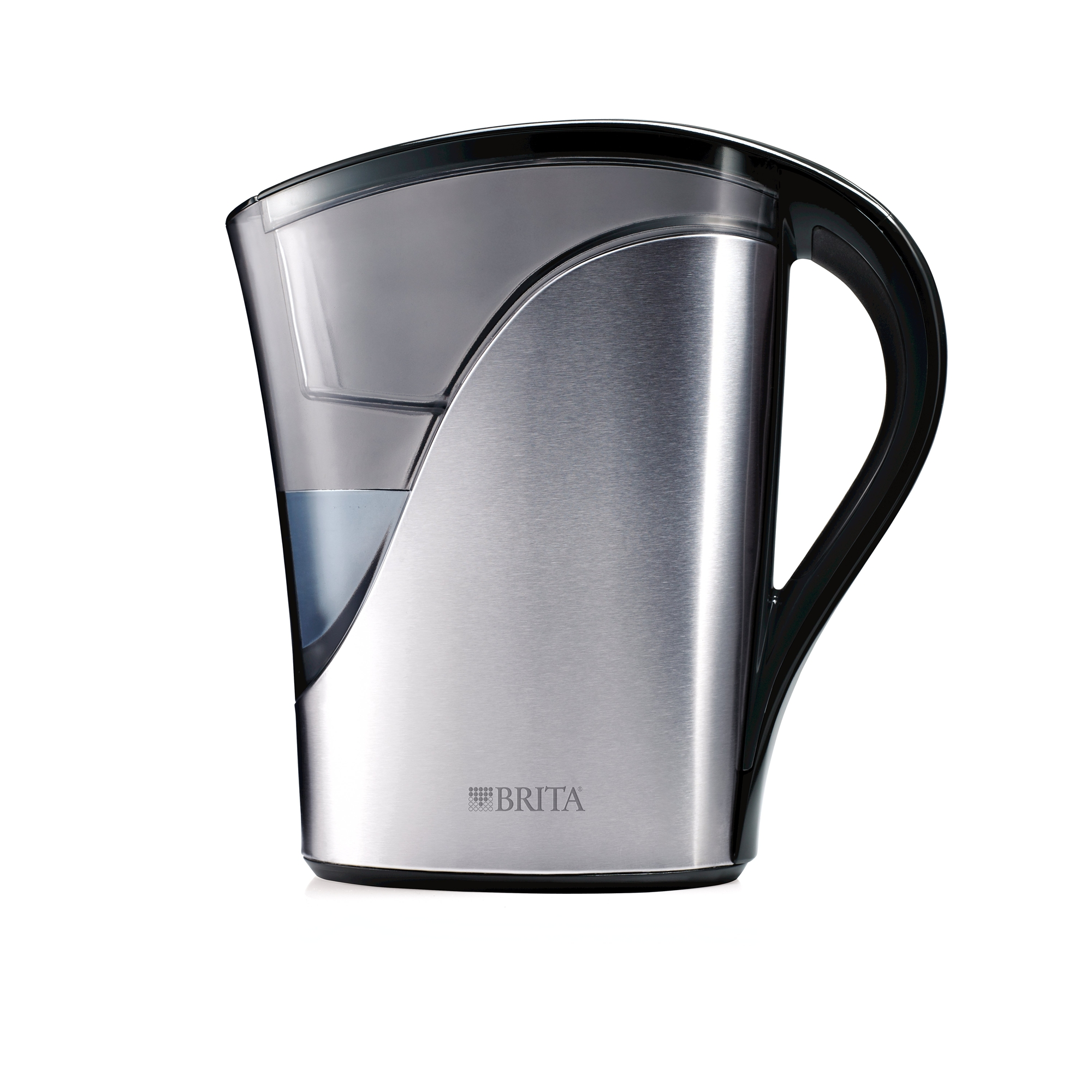 Brita Medium Stainless Steel Water Pitcher with Filter - 8 Cup - BPA Free