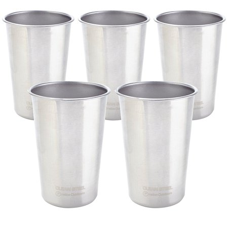 Indoor Camping Party (Stainless Steel Cups - Indoor Outdoor Party Camping Picnic Drinking Cups - Unbreakable and Stackable Cups, 16 oz 5)