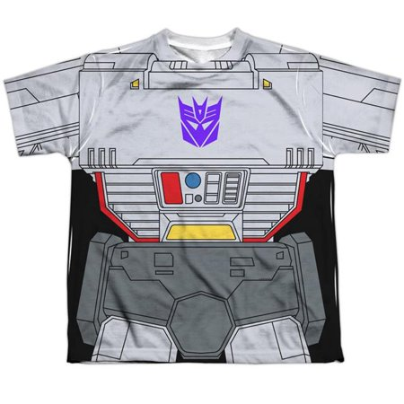 Trevco Sportswear HBRO132-YTPP-4 Transformers & Megatron Costume - Short Sleeve Youth Poly Crew T-Shirt, White - Extra Large - image 1 of 1