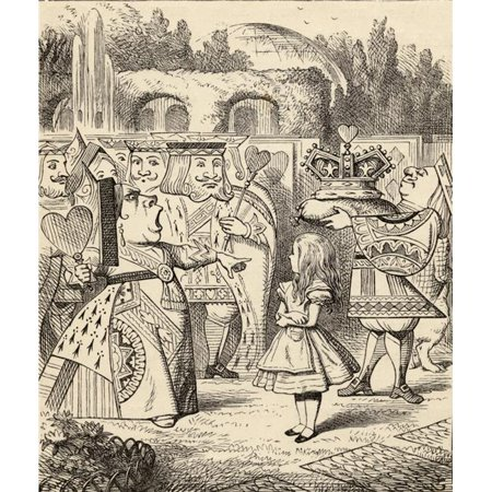 Posterazzi DPI1856610 Off with Her Head Illustration by John Tenniel From The Book Alicess Adventures In Wonderland by Lewis Carroll Published 1891 Poster Print, 13 x (John Lewis 20 Off Code)