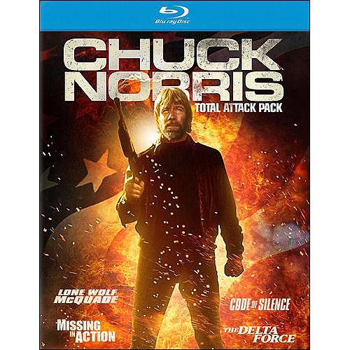 Chuck Norris Total Attack Pack: Lone Wolf McQuade / Missing In Action / Code Of Silence / The Delta Force (Blu-ray)