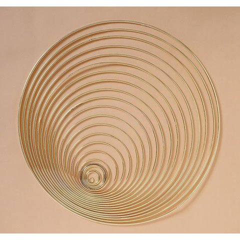 METAL GOLD RINGS 11 inch- Pack of 5, By Better Crafts