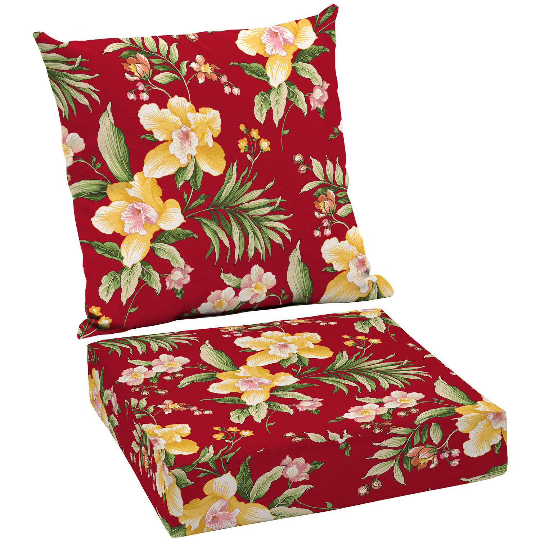 Mainstays Outdoor Patio Deep Seat Cushion Set Walmart