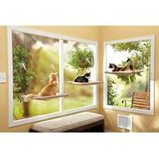 Samincom Sunny Seat Window-Mounted Cat Bed Space Saving Cat Hammock 50 lbs