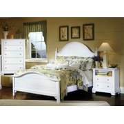 Panel Bed w Nightstand & Chest in Snow White Finish (Full)