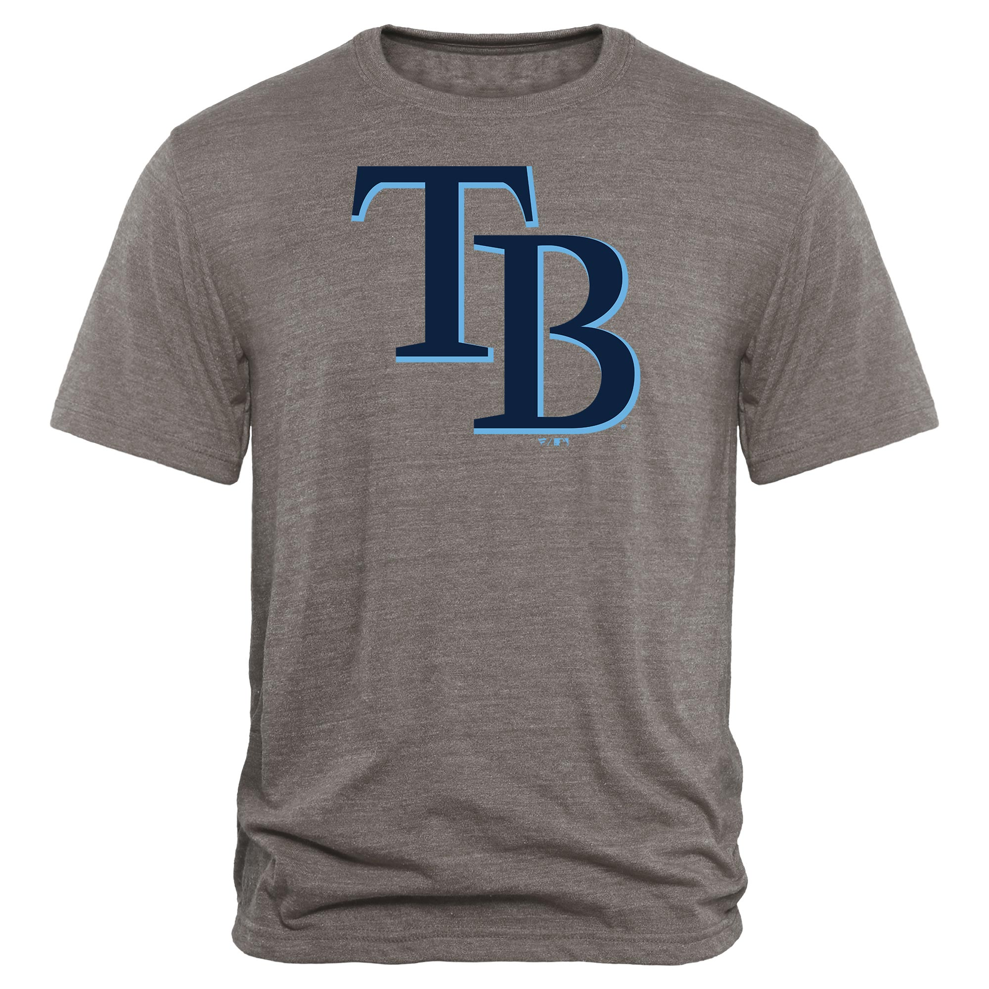 Tampa Bay Rays Rally Primary Logo Tri-Blend T-Shirt - Heathered Gray